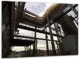 Rohrleitungen II - Wandbild Stahlwerk Maxhütte, exklusiver Druck auf Leinwand, Alu-Dibond oder Acrylglas inkl. kostenloser Wandhalterung - Moderne Wandbilder Bilder Glas Bild Kunst Fotografie Kunstdruck Deko für Wohnzimmer, Schlafzimmer und Büro