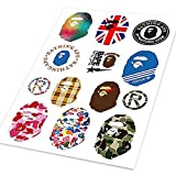 Bathing Ape Bape Stickers A4 Colored Car Styling Waterproof Graffiti Sticker Auto Motorcycle Bike Laptop Skateboard Phone Decals supreme, Hypebeast, aape Sticker