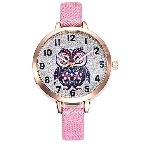 TianWlio Armbanduhren Damen Schöne Mode Einfache Uhr Damen Ledergürtel Uhr für Geschenk 2019
