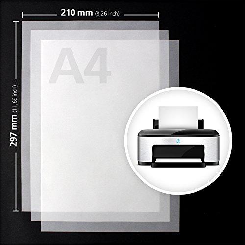 Transparentpapier bedruckbar | DIN A4