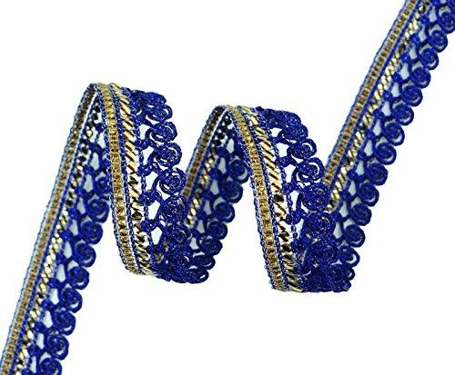 Metallic-Spitze-Blau Breite von 12,7 mm geflochtenes Edging Trim Versorgung Craft von 18 Yards -