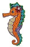 Unbekannt Seepferdchen - 3 cm * 6 cm Bügelbild - Aufnäher Applikation - Abzeichen - Seepferd Fisch Schwimmen - für Kinder Wald Tier Tiere Schwimmabzeichen - Schwimmstuf