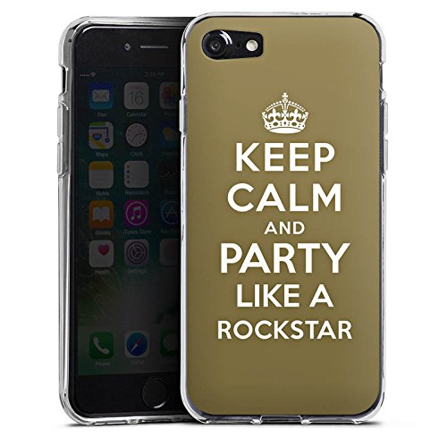Apple iPhone X Silikon Hülle Case Schutzhülle Keep Calm Rockstar Musik Silikon Case transparent