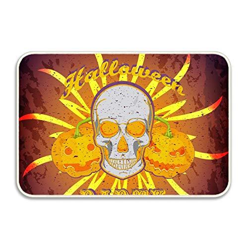 MERCHA Halloween Poster Welcome Boden Sauberlaufmatte Fußmatte Home Decor strapazierfähig Rutschfest, Gummi, Party Halloween6, 16x24(IN)