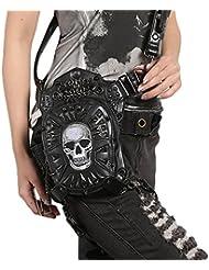 Vapor punk hombro pincho motocicleta bolsa multifuncional bolsa de araña