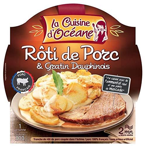 La Cuisine D\'Océane - Schweinebraten Kartoffelgratin 300 G - Packung mit 4