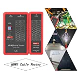 UT681 HDMI Tester Per Cavi,Tester Portatile Ad Funzione Spegnimento Automatico Trasmettitore Ricevitore Multi Tester Cavi Per Testare Cavo Hdmi 1.2V/1.3V/1.4V/2.0V Controllare Disordine Corto Aperto