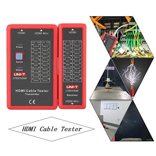 Status-anzeige-licht (HDMI Kabeltester,Jectse HDMI HDMI/MINI-HDMI Datenkabel Tester Kabeltester HDMI Kabeltester mit 20 LED Status Anzeige)