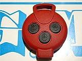 G.M. Production - 451 rossa TN - COVER ROSSA E TASTI NERI PER CHIAVE TELECOMANDO PURE SMART 3 TASTI [controllare foto e dettagli compatibilità]