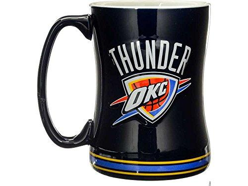 Oklahoma City Thunder Logo Tasse 14 Unzen, Geformte Zugentlastung (Decke Band-merch)