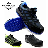 Mens Safety Trainers S1P - Steel Toe Cap, Lightweight, EN ISO 20345:2011 Compliant, SIZES 3 to 13 - 3 Styles from POWCOG®