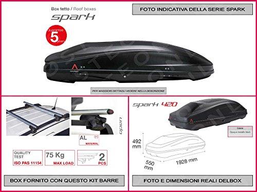 box-portatutto-auto-in-kit-spark-420-lt-1928-x-550-x-492-compreso-barre-portatutto-portapacchi-ford-