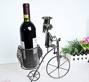 GQ Vélos Wine Rack Metal Crafts style Décoration