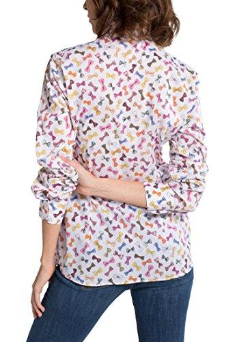 Eterna Chemisier Pour les Femmes de Grande Taille à Manches Longues Modern Classic Imprimé Multicolore