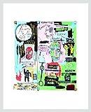 Jean-Michel Basquiat Poster Kunstdruck Bild In Italian 1983 im Alu Rahmen silber matt 42x34cm - Germanposters