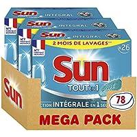 Sun Tablettes Lave-Vaisselle Tout En 1 Standard 78 Lavages (Lot de 3x26 Lavages)