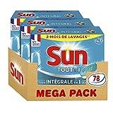 Sun Tablettes Lave-Vaisselle Tout-En-1 Standard 26 Lavages (Lot de 3)