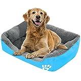 Acecoree Hundebett Kuschelsofa Hundekorb weich und kuschelig Haustier Bett Ideal für Hunde oder Katzen (Blau)