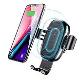 Caricatore Wireless Auto Rapido,Caricabatteria Wireless per Auto con Supporto Telefono ,Universale Qi Wireless Fast car Charger per Samsung Galaxy, Standard Charging per iPhone X/8/8 Plus