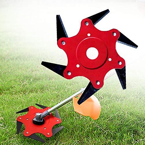 KaiQiang-UK Cortadora De Césped Cuchilla Cabezal De Corte 6-Blade Metal Universal 65Mn Repuesto Accesorios De Cortacésped Segadora el Jardín Uso Agrícola