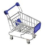 Vktech Mini Supermarkt Einkaufswagen Stiftehalter Hamster Kinder Spielzeug (Blau)