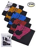 Máscara de Calavera sin Costura Bragas de Cuello de Calavera Bufanda Multiuso de Motocicleta, Colores Variados, 5 Piezas