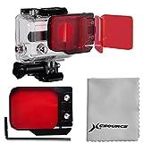 XCSOURCE® Rot Unterwasserfilter Farbfilter (10-20m) Meer Tauchen für Kamera GoPro HERO 3 LF384