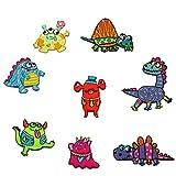 8er Set Monster-Applikationen für Kinder