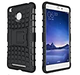Evonyx Defender Tough Hybrid Armour Shockproof Hard PC With Kick Stand Rugged Back Case Cover For Xiaomi Redmi 3s Prime