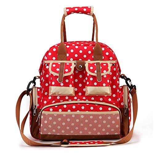 ZYT Stilvolle Mehrzweck Schultern Mumie Tasche großen Kapazität des mütterlichen und Kind c