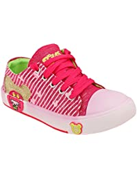 Guys & Dolls Kids's Dark Pink Colour Synthetic Canvas Shoes (Suitable For Boys And Girls)