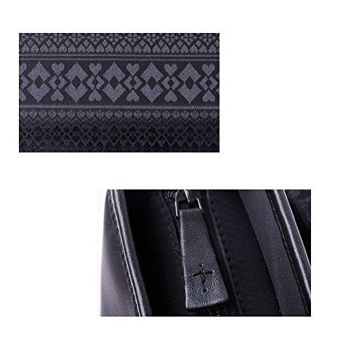 YAAGLE Herren wasserdicht Business Taschen Kuriertasche Schultertasche Umhängetasche echtes Leder Vertikalschnitt Freizeit schick Reisetasche-schwarz(Vertikalschnitt) schwarz(Vertikalschnitt)