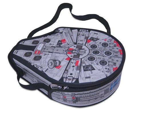 Lego Star Wars Zipbin A1492XX - Borsa a tracolla Millennium Falcon con rivestimento interno di gioco, misura: grande