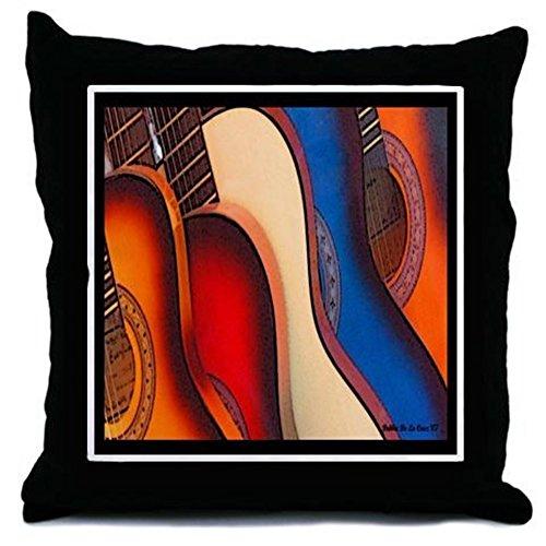 CafePress–GUITARRAS–Überwurf, Kissen, Überwurf Kissen, dekoratives Kissen, merhfarbig, Cover + Insert (Jazz Bass Mexikanische)