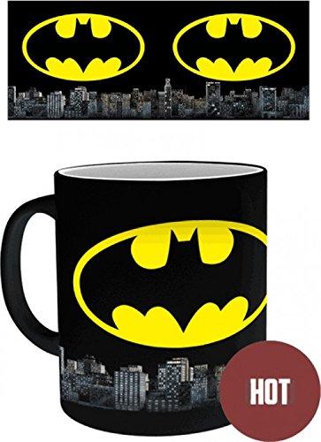 1art1 batman - logo, dc comics tazza magica mug cambia colore (9 x 8cm)