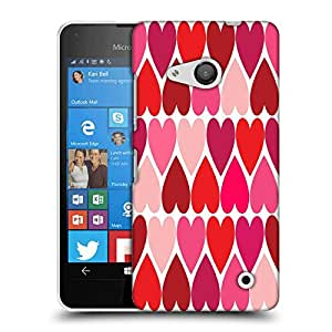 Snoogg Opposite Hearts Designer Protective Phone Back Case Cover For Microsoft Lumia 550