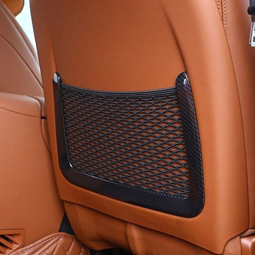 Carbon Style ABS-Kunststoff hinten Zeile zurück Sitz Netz Tasche Trim Auto Zubehör