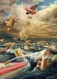 Postkarte A6 • 13948 ''Tortenschlacht'' von Inkognito • Künstler: Ernst Kahl • Satire • Geburtstag