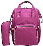 Ghlee Oxford Tuch Mode Mama Tasche Multifunktionale Großkapazität Mutter Rucksack mit tragbaren Isolierung Tasche, lila