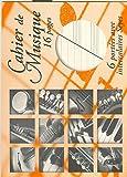Partition : Papier à Musique  : Cahier Mixte avec pages d'écriture intercalaire. - 16 pages - format à l'italienne 22 x 17 cm - 6 portées. - Achat à l'unité - Le cahier...
