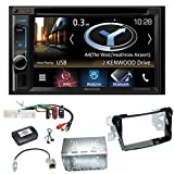 Kenwood DNX-4180BTS Navigation Naviceiver Bluetooth CarPlay USB CD DVD Autoradio FLAC Doppel Din Einbauset für Hyundai i40 VF