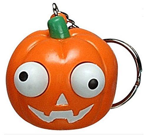 5 x Trick Or Treat Halloween Pop Eye Kürbis Schlüsselanhänger mit herausdrückbaren (Ideen Kostüme Trick Or Treat)