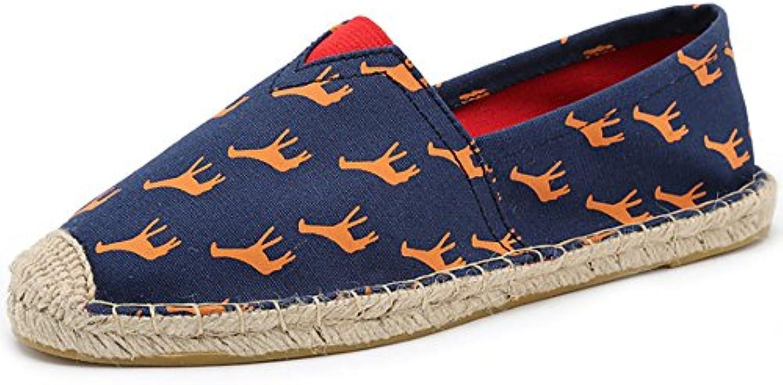 HAOYUXIANG Nuove scarpe di di di lino alla moda ventilazione uomini e donne scarpe di tela tessuto cucito a mano scarpa... | Economici Per  78dfbb