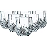 Premium Quality Made In China Glass Heavy Base Round Whiskey Glasses Set Of 6 | 200 Ml Drinking Glasses- Ideal For Whiskey, Vodka, Tequila| Bar Tools | Bar Accessories (6, Glass)
