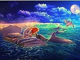 BBINGK Diamant Malerei Diamant Stickerei Tier 5D DIY Diamant Malerei Dolphin Bohren Voll Mosaikbild Wohnkultur,50 * 50Cm,Square Drill