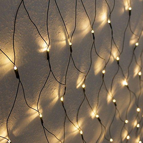 Atlantis Elektronik 320er LED Lichternetz 3x1.5m Warmweiß, Indoor & Outdoor, Lichterkette, Christbaumlichterkette, Weihnachtsbeleuchtung