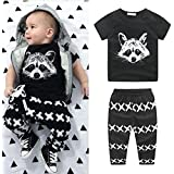 Voberry Voberry Baby-Boys Newborn Outfits T-Shirt Tops+Pants Outfits Clothes Set