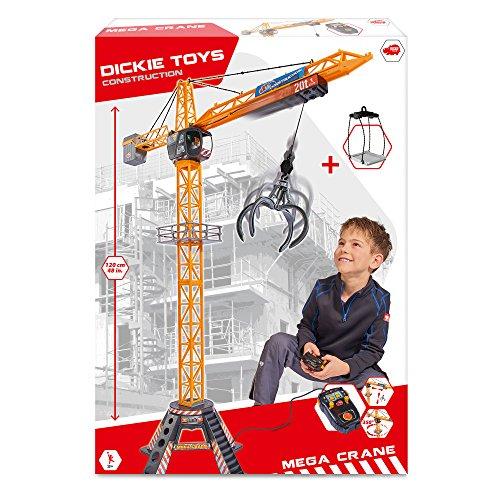 Baukran (Dickie Toys 203462412 - Mega Crane, kabelgesteuerter Kran, 120 cm hoch)