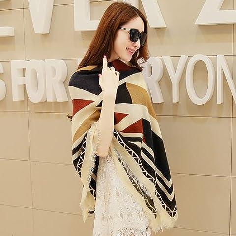 Autunno Inverno Womens Fashion eleganza Super Morbida sciarpa scialle Europa Street Style(cotone/lana/filo/seta)W-211
