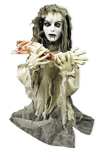 Animierte Vampir-Braut Halloween-Deko weiss-grau 80x70cm (Halloween Figuren Animierte)
